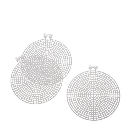 Darice Plastic Canvas single Count 4.5″ Circles-10/Pkg Clear