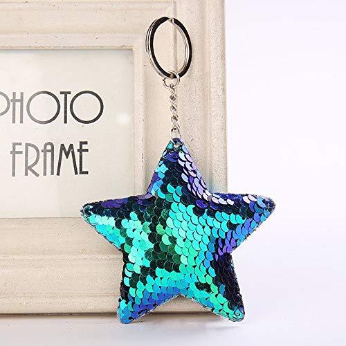 Fragil Tox Keychain Cute Cute Star Keychain Glitter Pompom ...