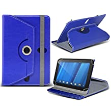 HP TouchPad ( Blue ) Tablet Luxury 360° Rotating PU Leather Wallet Spring Stand Skin Case Cover by ONX3