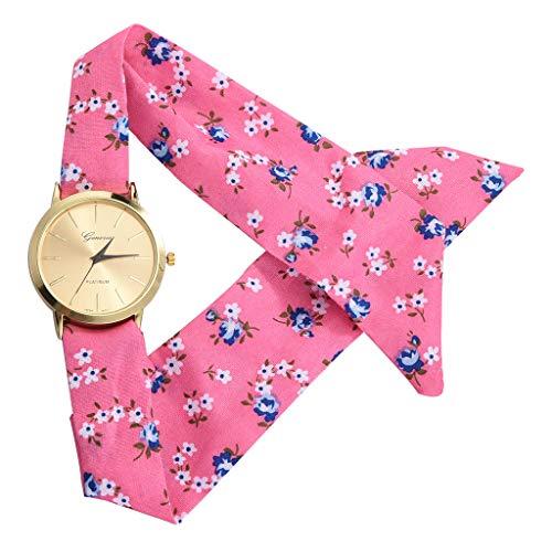 (Sodoop Women's Dress Watch,Fashion Breathable Flower Cloth Design Watch,Summer Sweet Girl Bracelet Quartz Watches)