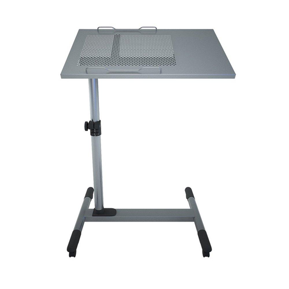 FEIFEI 調節可能な高さラップトップデスクソファーテーブルポータブルベッドデスクPCスタンドラップデスク (色 : Gray) B07F8HVBDF Gray Gray