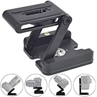 ASHANKS Z Type Head Aluminum Folding Quick Release Plate Stand Holder Tripod Flex Tilt & Ball Heads for Canon Nikon Sony Pentax Camera