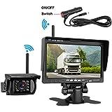DohonesBest Wireless Backup Camera 7 HD LCD Monitor System kit Trucks/RV/Trailer/Camper Built in Reverse Camera Guide Lines ON/Off IP69K Waterproof IR Night Vision