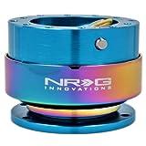 NRG Steering Wheel Quick Release Kit - Gen 2.0 - New Blue Body w/ Neochrome Ring - Part # SRK-200NB-MC