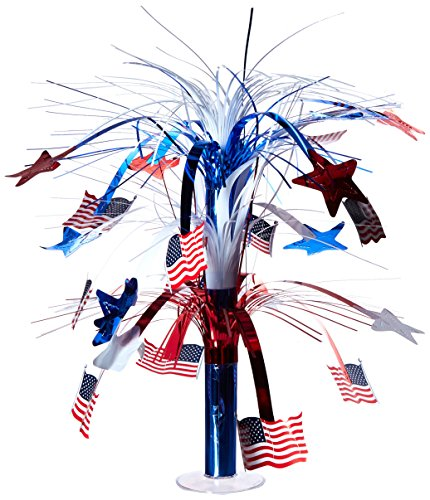 Beistle 50743 Flag Cascade Centerpiece, 18-Inch -