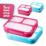 Bento Lunch Box For Adults and Kids - Set of two on one