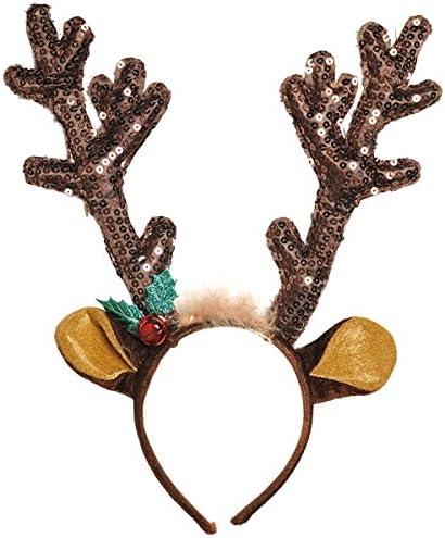 Christmas Reindeer Mask Rudolph Headpiece
