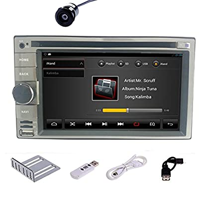 Pupug Capacitive Touch 4.2 Android Car DVD Player PC 2 DIN Stereo Radio 3G WiFi BT TV GPS Navi Camera