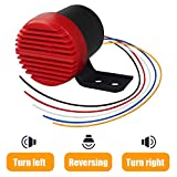 GAMPRO 110db Sound Backup Warning Alarm with Turn Right/Left/Back Up Three Alert Voice Car Air Horn Back-up Alarm 12V-24V, Super Loud Alert Notice for Truck Van Freight Car Lorry Heavy Vehicles