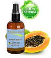 """PAPAYA SEED OIL. 100% Pure / Natural / Undiluted /Refined Cold Pressed Carrier oil. 2 Fl.oz.- 60 ml. For Skin, Hair and Lip Care. """"One of the richest natural sources of vitamin A & C and a remarkable stable source of omega 6 & 9 and natural fruit enzymes-"""