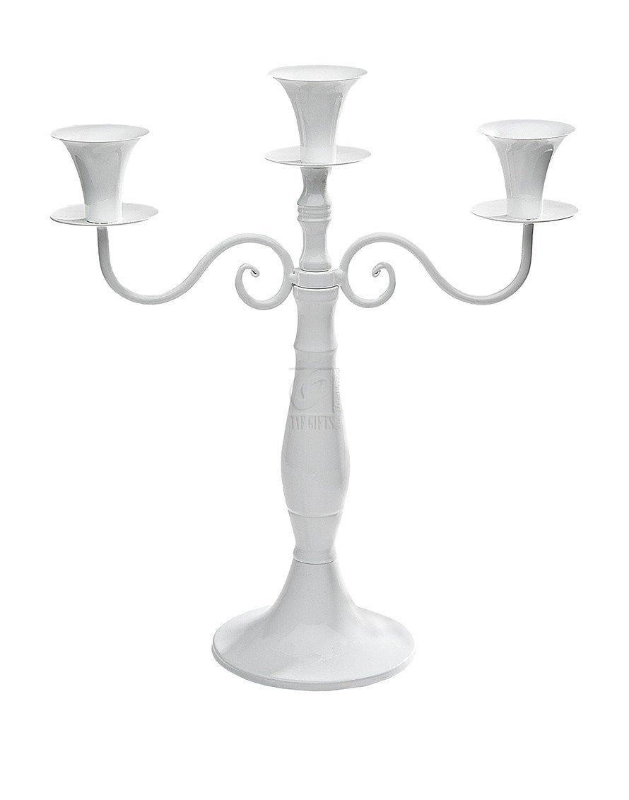 Studio Silversmiths White Metal 3 Light Candelabra