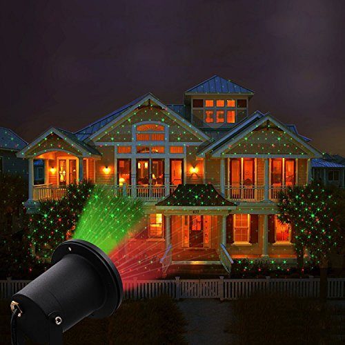 Solario Solar Powered Laser Light Projector w/All-Metal Aluminum Design | Extra-Bright LED Stake Lights | 100% Weather Resistant Outdoor Christmas Lights (Red & Green) (3 Patterns) by Solario (Image #7)