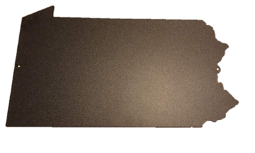 Brighten Your Life Roeda 6PA40001K Pennsylvania Magnetic Memo Board 10x18 Black Made in The USA