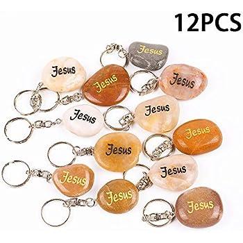 Jesus Keychain Lot Of 12 pcs.//Llaveros Cristianos De  Jesus Lote De 12 Piezas