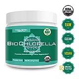 Organic Chlorella Powder - 4 Organic Certifications, Raw Form & Sun Grown | Guaranteed Best Source of Chlorella, Maximum Nutrient & CGF Levels (Chlorella Growth Factor) - 75 Servings