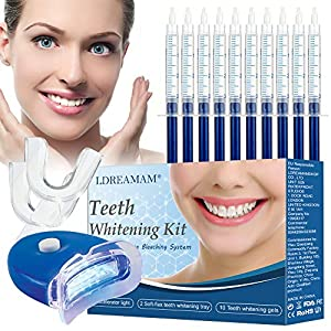 Sbiancamento denti,Teeth Whitening Kit,Gel Sbiancante Denti,10x Sbiancamento dei denti,2x Kit vassoi per Luce a led…