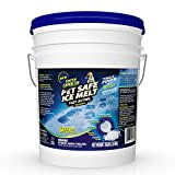 Green Gobbler Pet Safe Ice Melt Fast Acting Treatment | Magnesium Chloride Ice Melt Pellets | Pet & Plant Safe Ice Melter (25lb Pail)