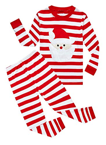 Family Feeling Baby Boys Girls' Santa Claus Christmas Cotton Long Sleeve Pajamas Sets T-Shirts Pants 18-24 Months -