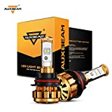 Automotive : Auxbeam LED Headlights F-16 Series 9004 HB1 LED Headlight Bulbs with 2 Pcs of Headlight Bulbs CREE LED Chips Hi-Lo Beam - 50W 5000lm Low Beam & 50W 5000lm High Beam - 1 Year Warranty