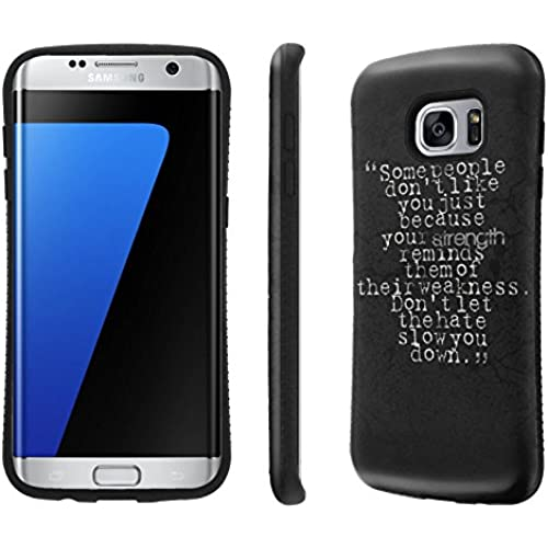 Galaxy S7 Edge / GS7 Edge Case, [NakedShield] [Black Bumper] Heavy Duty Shock Proof Armor Art Phone Case - [Strength Weakness Hate] for Samsung Galaxy S7 Sales