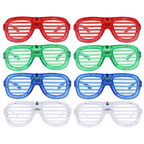 765e439591e M.best Unisex Fashion Plastic Glow LED Light Up Shades Toy Glasses for  Christmas Halloween
