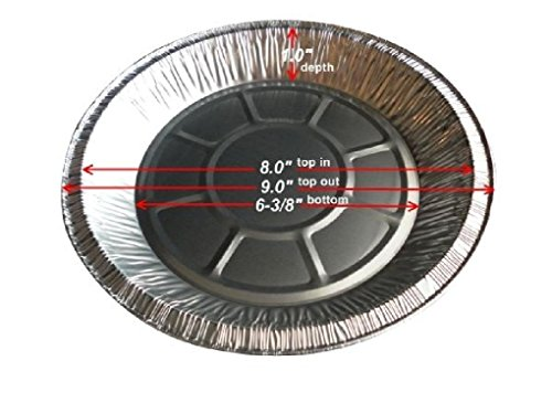 9 inch Foil Pie Pan 1 inch Deep 400/CS Disposable Aluminum Pie Plate Tin