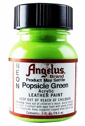 Springfield Leather Company's Neon Popsicle Green Acrylic Leather Paint (Green Neon Paint compare prices)