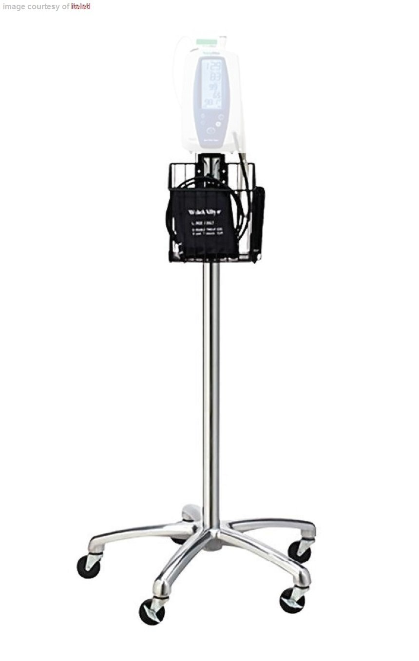 Welch Allyn Monitor Rolling Stand with Basket for Spot, Spot LXi, VSM 300 Series & Connex