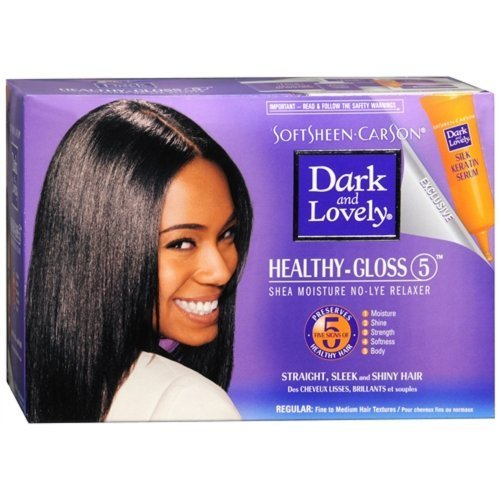 Dark and Lovely Relaxer System Conditioning No-lye Regular Kit, 16.8 Ounce (Lye Relaxer System)