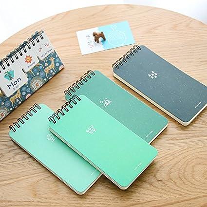 Amazon.com : Green Notepad Mini Coil Notebook 80 Sheet line ...