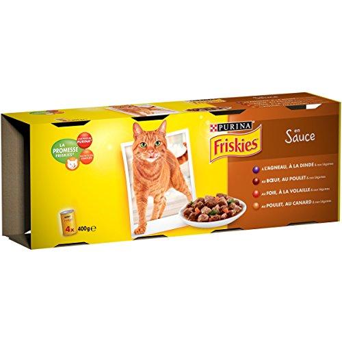 9349723082c49e cheap Friskies Viandes et Légumes en Sauce - 4 x 400 g - Boîtes pour Chat