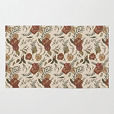 Society6 Antique Floral Pattern Rug