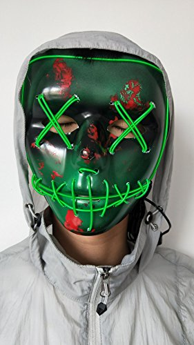 NIGHT-GRING-Frightening-Wire-Halloween-Cosplay-LED-Light-up-Mask-for-Festival-Parties-Green