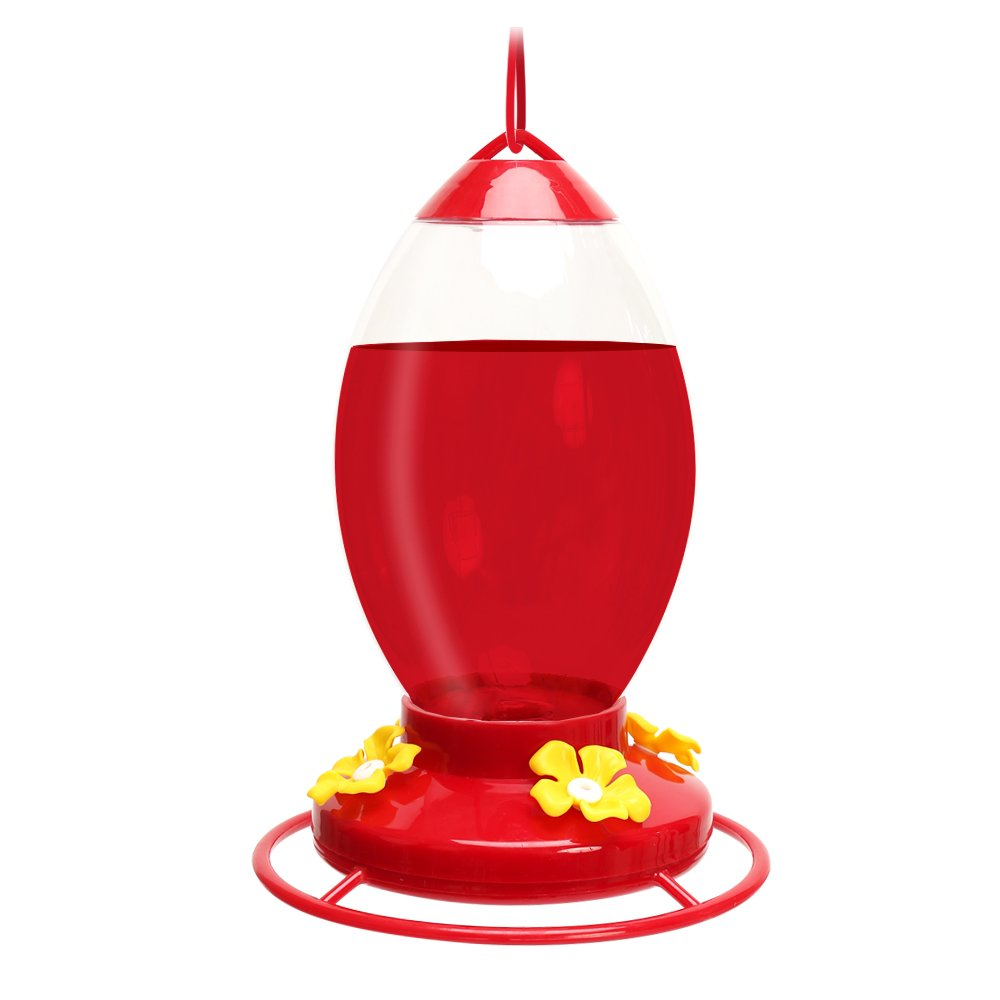 ORIENTOOLS Hummingbirds Feeders for Outdoors with 4 Feeding Stations, Plastic Birds Flower Feeders Anti-ant Moat, 32.11 oz Hummingbird Nectar Capacity by ORIENTOOLS