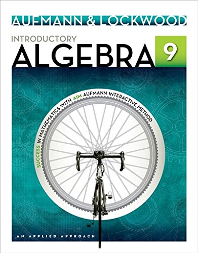 Introductory Algebra: An Applied Approach