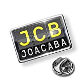 Pin JCB Airport Code for Joacaba - Lapel Badge - NEONBLOND