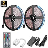 LED Strip Light,Multi-Color Seasonal Lighting,300 LEDs Rope Lights,12V 5050 RGB Rope Lights Kit with Remote Controller,5A Power Adapter Included, LED Tape,Pack of 32.8Ft/10M,for X'Mas Tree Deco-2Pack