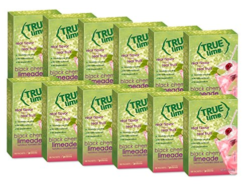 True Lime Black Cherry Limeade Drink Mix, 10-Count (Pack of 12)