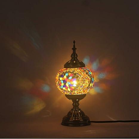 Amazon.com: Mosaic Lámpara de mesa, creativa cafetería ...