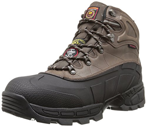 Skechers for Work Men's Radford Boot,Black/Brown,8.5 M US