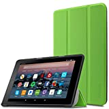 Infiland Case for All-New Fire 7 Tablet (2017 7th Generation) - Ultra Slim Lightweight Tri-fold Stand Cover For All-New Fire 7 Tablet (7th Generation, 2017 release), Green