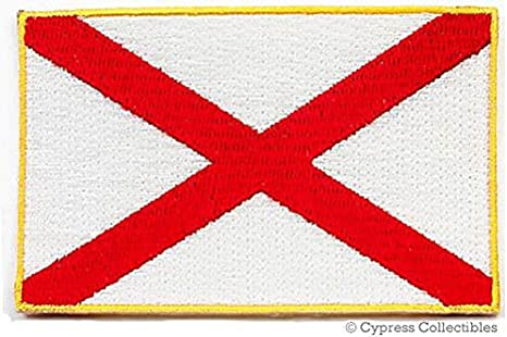 Alabama State Flag Patch Embroidered Iron On Applique
