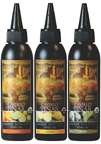 Castillo de Piñar 3-PACK: Citrus, Ginger, Lemon Balsamic Reduced Vinegar Non GMO