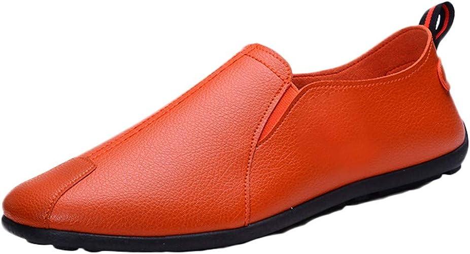 ZHANSANFM Herren Mokassin Bootsschuhe Leder Schuhe Slip On