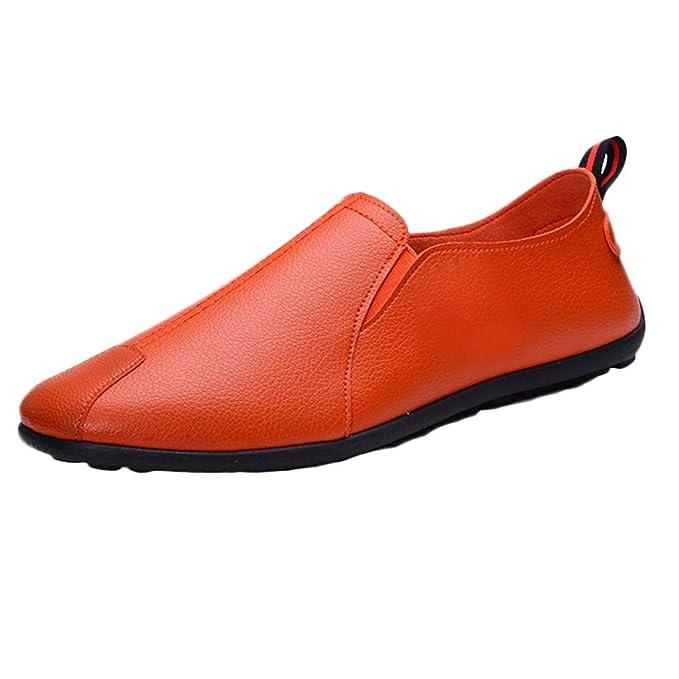 Outdoor Schuhe Abendschuhe Leder Casual Fahrboot Slip Herren