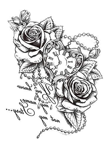 ROSEN TATTOO TATTOO TATTOO TATTOO - Reloj de bolsillo, diseño de rosas con corazón y