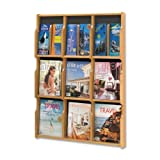 Wholesale CASE of 2 - Safco 9 Magazine/18 Pamphlet Wood Literature Rack-Literature Rack, 29-3/4''x2-1/2'',38-1/4'', MO