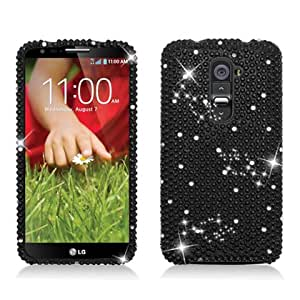 AIMO Dazzling Diamond Bling Case for LG Optimus G2 [AT&T, T-Mobile] (All Black)