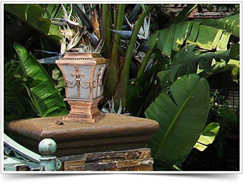 Giardino lampada esterno pilastro solare luci post luci wall luci