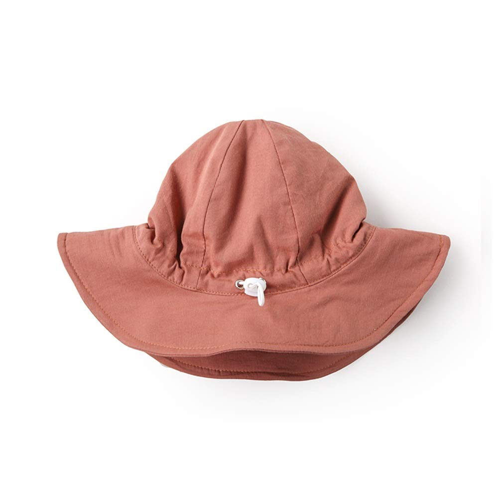 GYZ Sun hat Cute Super Cute Fisherman hat Infant Child boy Girl Sunscreen Wide Side Spring and Summer Thin Section Sun hat, Folding Small, Cotton, a Variety of Colors to Choose from Child hat by GYZ